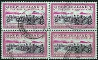 New Zealand 1940 Centenary SG 618 Fine Used Block of 4