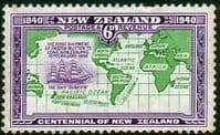 New Zealand 1940 Centenary SG 621 Fine Mint