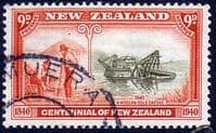 New Zealand 1940 Centenary SG 624 Fine Used