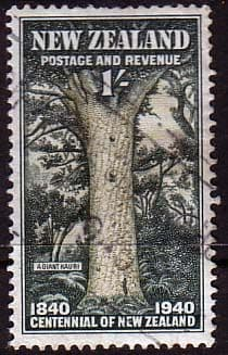 Commonwealth Stamps New Zealand 1940 King George VI Fine Used SG 625 Scott 241