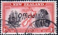 New Zealand 1940 Centennial Official SG O142 Fine Used