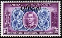 New Zealand 1940 Centennial Official SG O143 Fine Mint
