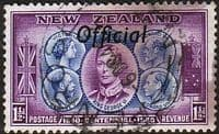 New Zealand 1940 Centennial Official SG O143 Fine Used
