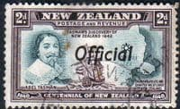 New Zealand 1940 Centennial Official SG O144 Fine Mint