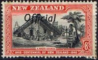 New Zealand 1940 Centennial Official SG O149 Fine Mint