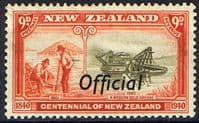 New Zealand 1940 Centennial Official SG O150 Fine Mint