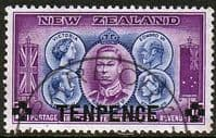 New Zealand 1944 Overprint SG 662 Fine Used