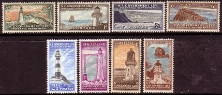 New Zealand 1947 Lighthouses Set Fine Mint