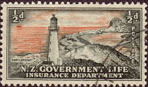 New Zealand 1947 Lighthouses SG L42 Fine Used