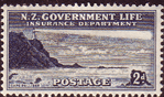 New Zealand 1947 Lighthouses SG L44 Fine Mint