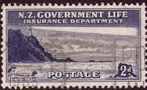 New Zealand 1947 Lighthouses SG L44 Fine Used