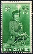 New Zealand 1953 Queen Elizabeth SG 734 Fine Mint