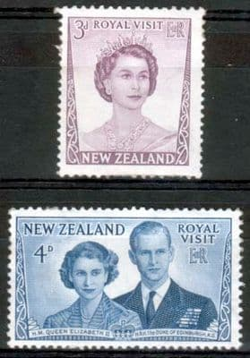 Stamps Stamp New Zealand 1953 Royal Visit Set Fine Mint
