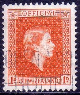 New Zealand 1954 Queen Elizabeth Official SG O159 Fine Used