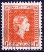 New Zealand 1954 Queen Elizabeth Official SG O159a Fine Used