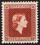 New Zealand 1954 Queen Elizabeth Official SG O160 Fine Mint