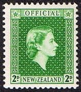 New Zealand 1954 Queen Elizabeth Official SG O161 Fine Mint