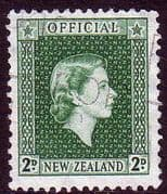 New Zealand 1954 Queen Elizabeth Official SG O161 Fine Used