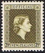 New Zealand 1954 Queen Elizabeth Official SG O162 Fine Mint