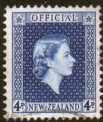 New Zealand 1954 Queen Elizabeth Official SG O164 Fine Used