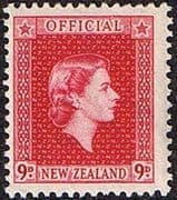 New Zealand 1954 Queen Elizabeth Official SG O165 Fine Mint