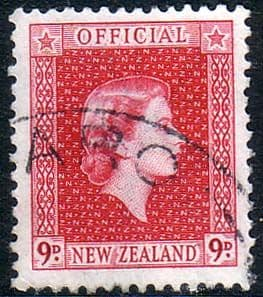 New Zealand 1954 Queen Elizabeth Official SG O165 Fine Used