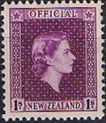 New Zealand 1954 Queen Elizabeth Official SG O166 Fine Mint
