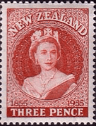 New Zealand 1955 Centenary of the Postage Stamp SG 740 Fine Mint