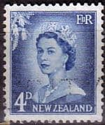New Zealand 1955 Queen Elizabeth SG 749a Fine Used