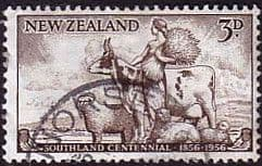 New Zealand 1956 Southland Cetennial SG 753 Fine Used