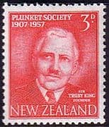 New Zealand 1957 50th Anniv of Plunket Society Fine Mint