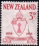 New Zealand 1958 Nelson Cathedral Fine Used