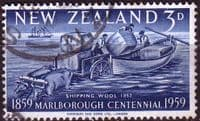 New Zealand 1959 Marlborough Cetennial SG773 Fine Used