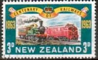 New Zealand 1963 Century of Railways SG 818 Fine Used