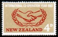 New Zealand 1965 International Co-operation Year Fine Mint