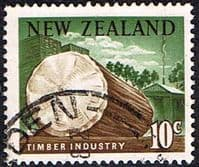New Zealand 1967 SG 855 Timber Industry Fine Used
