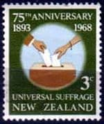 New Zealand 1968 SG 890  Universal Suffrage Fine Used
