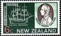 New Zealand 1969 SG 907 Cook Landing Fine Used