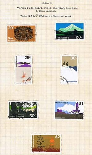 New Zealand 1970 Complete Definative Set Fine Used