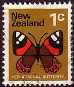 New Zealand 1970 SG 915 Butterfly Fine Used