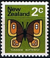 New Zealand 1970 SG 916 Butterfly Fine Mint