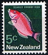 New Zealand 1970 SG 920 Parrot Fish Fine Mint