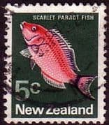 New Zealand 1970 SG 920 Parrot Fish Fine Used