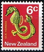 New Zealand 1970 SG 921 Sea Horse Fish Fine Mint