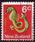 New Zealand 1970 SG 921 Sea Horse Fish Fine Used