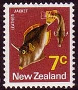 New Zealand 1970 SG 922 Leather Jack Fish Fine Mint