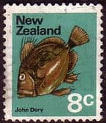 New Zealand 1970 SG 924 John Dory Fish Fine Used