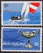 New Zealand 1971 One Ton Yacht Race Set Fine Mint