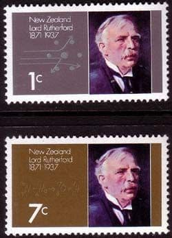 New Zealand 1971 SG 970 1 Lord Rutherford Set Fine Mint