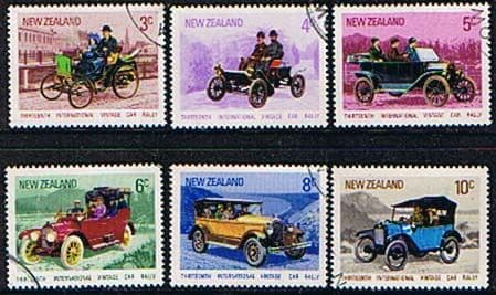 New Zealand 1972 SG 972 7 International Vintage Car Rally Set Fine Used